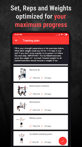 PC u7528 Gym Workout Plan for Weight Training 2