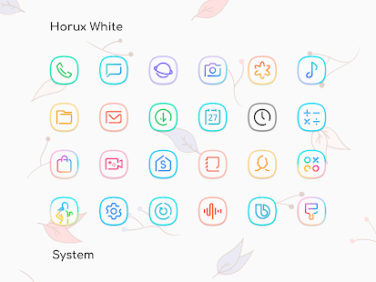 Horux White - Icon Pack Screenshot
