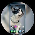 Theme for Oppo realme 3 Fun dog launcher
