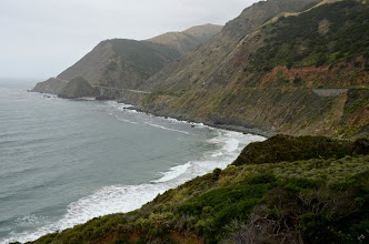 Photo: 171. This and the last shot were taken just north of Limekiln State Park. You can really see from this image how close Highway 1 hugs the coastline. You obviously have to watch the road carefully every second, but fortunately, there are abundant pullouts.