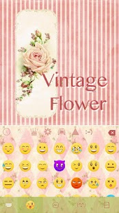 Vintage-Flower-Keyboard-Theme 1
