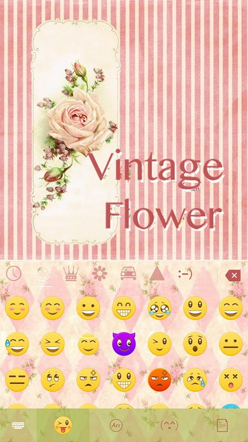Vintage-Flower-Keyboard-Theme 7