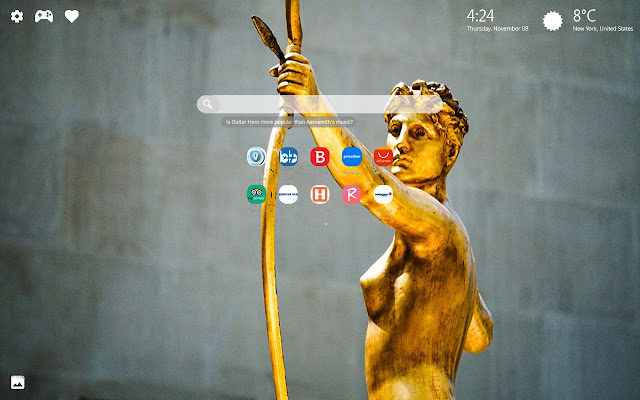 Gold Aesthetics Theme New Tab HD