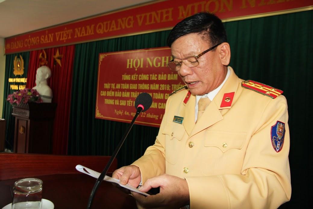 Đại tá Cao Minh Phượng, Trưởng phòng CSGT khai mạc Hội nghị