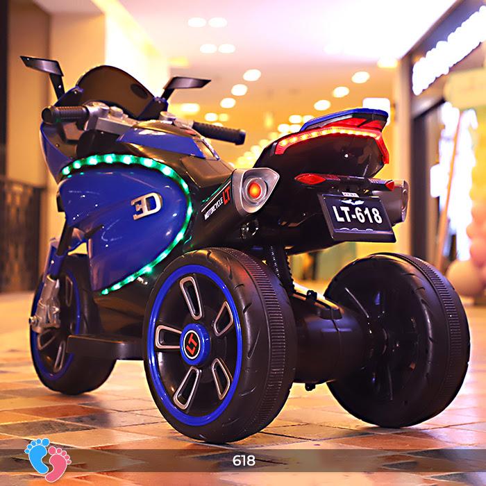 Xe mô tô điện cho bé điều khiển tay ga LT-618 7
