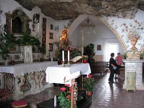 Photo: The Sanctuary of the Madonna della Rocca inside the mountain promontory
