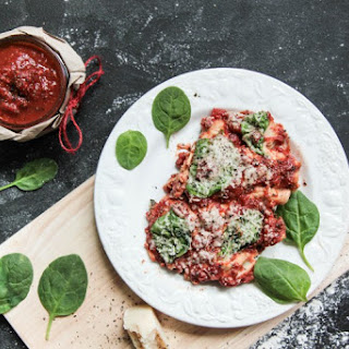 Spinach, Ricotta & Roasted Pepper Cannelloni Recipe