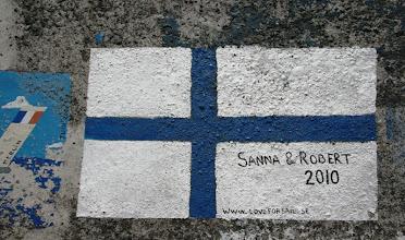 Photo: Yksi suomalaisen venekunnan tekemistä maalauksista Hortassa - vastaavia oli kymmeniä, vähintään (siis suomalaisia)