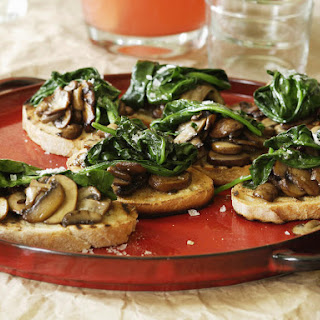 Mushroom and Spinach Bruschetta