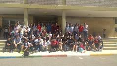 Los alumnos del Instituto Murgi y del Colegio Padre González.