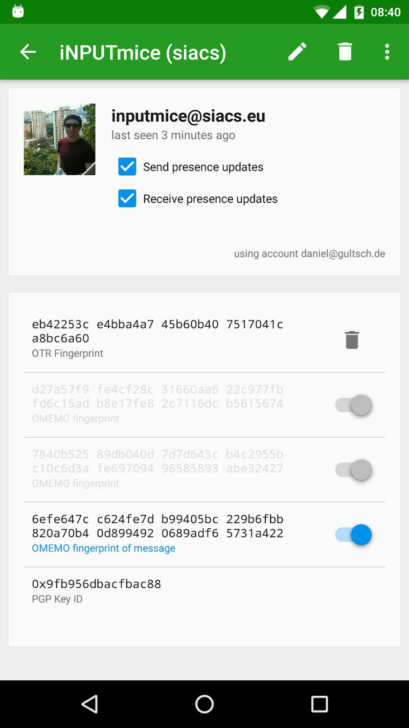 Conversations (Jabber / XMPP) Screenshot 4