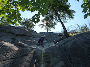 Photo: The Beautiful granite slabs of Railside crag in Nelson