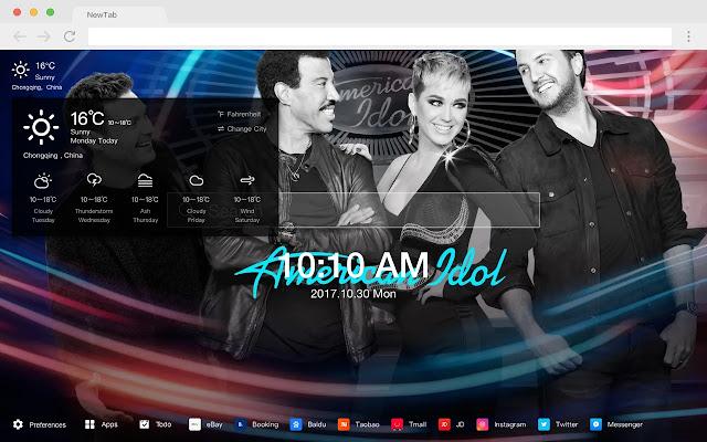 American Idol Pop TV HD New Tabs Theme