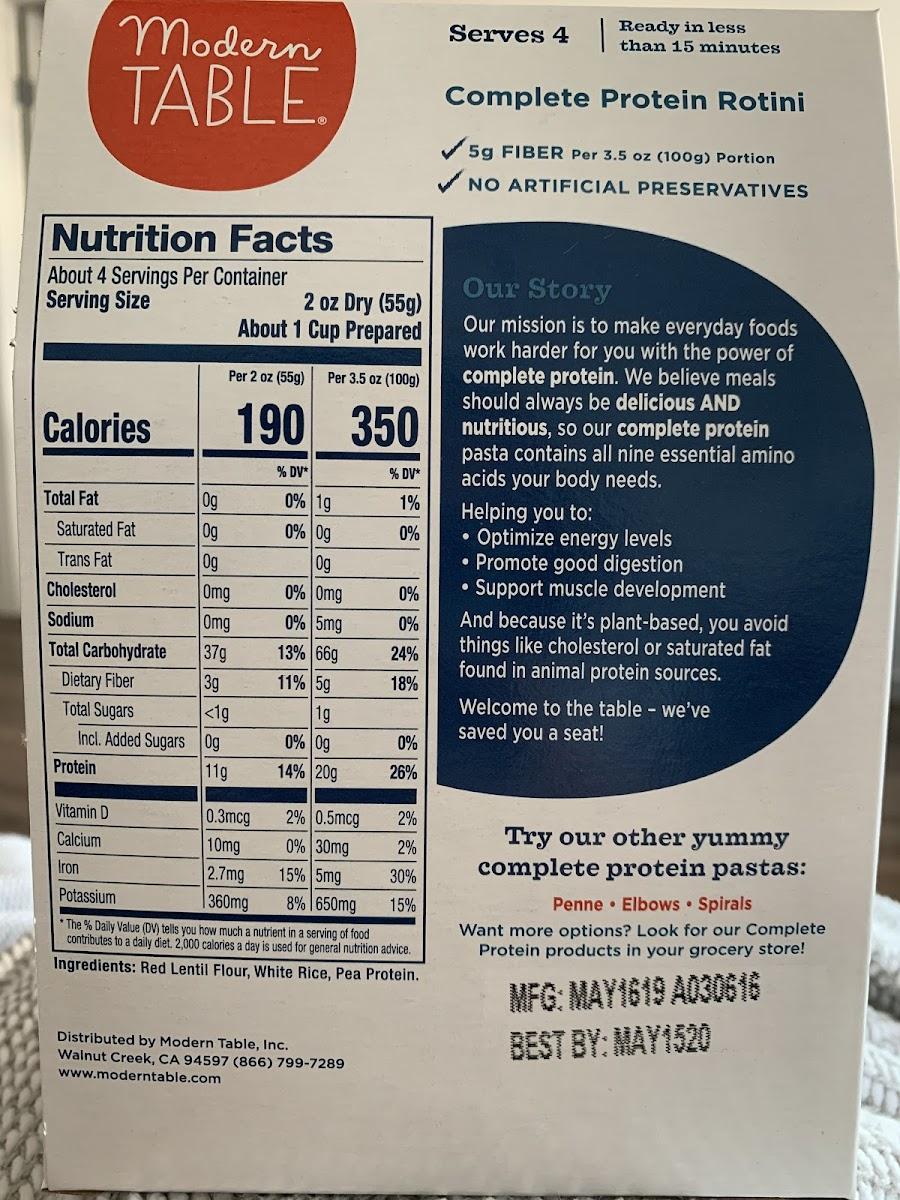 Rotini-Complete Protein Pasta