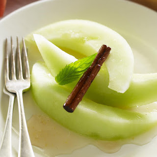 Honeydew Fruit Salad with Spiced Syrup