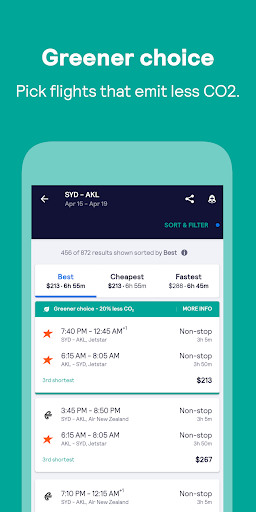 Skyscanner – cheap flights, hotels and car rental screenshot 5