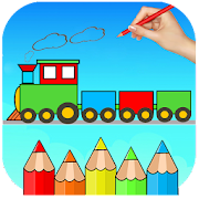 Train Coloring Book & Drawing Game