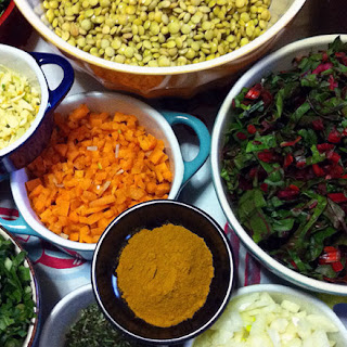 Lentil Stew with Braised Greens