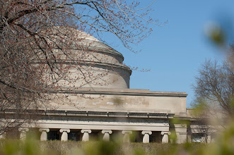 Photo: The Great Dome of MIT as seen from across Killian Court. Photo by Patrick Gillooly, MIT News