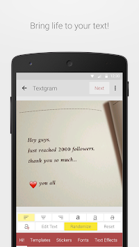 Textgram Legacy APK screenshot thumbnail 1
