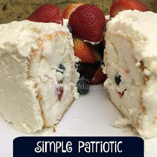 Patriotic Dessert - Fruit Tunnel Cake
