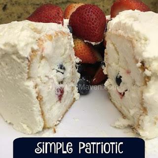 Patriotic Dessert - Fruit Tunnel Cake.