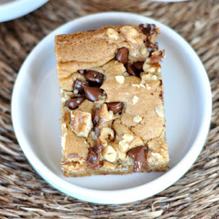 Walnut Chocolate Chip Blondies.