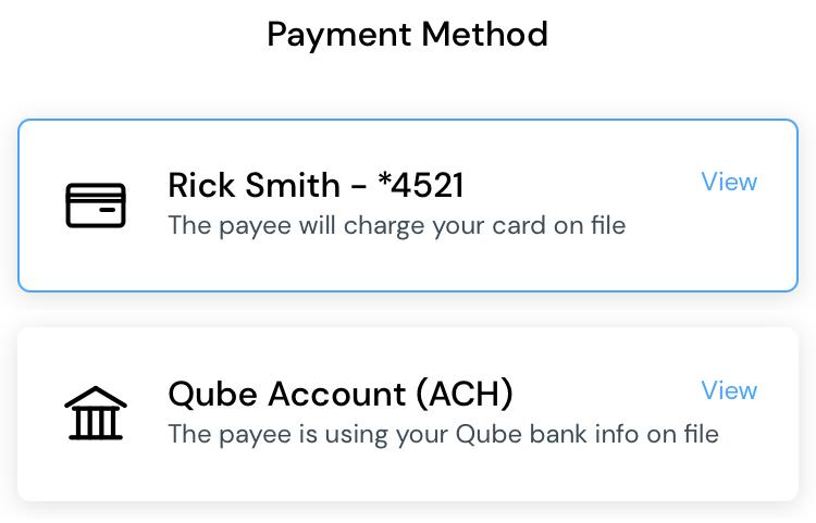 Bills home payment method