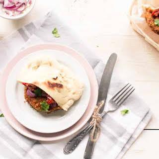 Falafel Burger With Pita Taco.