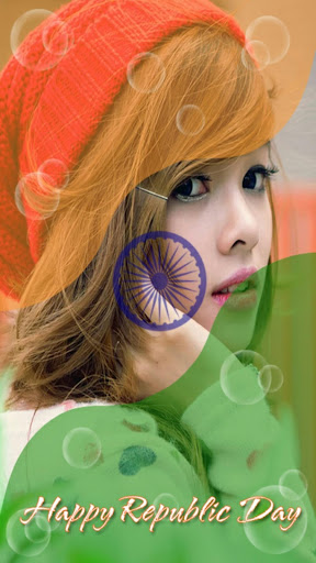 Indian Flag on Photo
