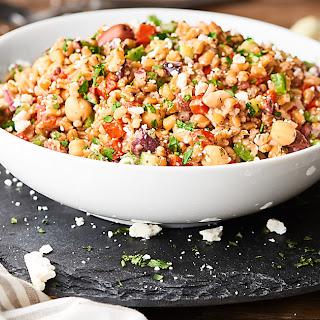Mediterranean Farro Salad.