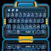 Blaue neon Zukunft Tastatur APK
