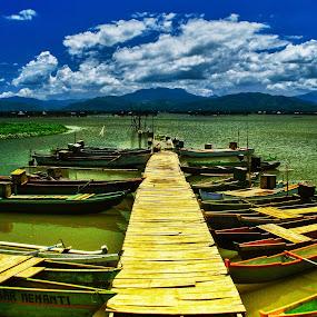 Parking area by Tamin Ibrahim - Transportation Boats