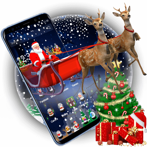 3D Merry Christmas Santa Theme (app)