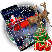 3D Merry Christmas Santa Theme
