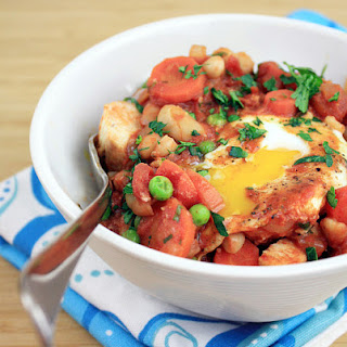 Spicy Tomato Sauce with Poached Eggs