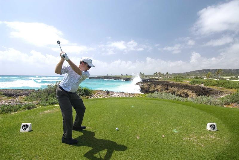 A scenic golf course in the Dominican Republic.