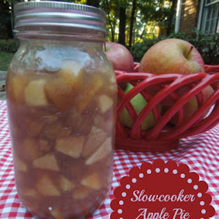 Slow cooker Apple Pie Filling.