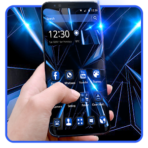 Black Blue Future Theme for PC