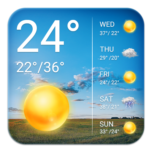 real time weather widget temperature&wind