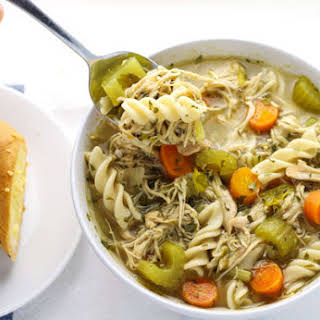 Slow Cooker Chicken Noodle Soup (Gluten Free).