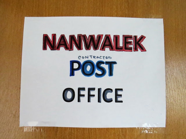 Nanwalek post office sign