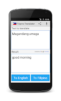 Screenshot of Filipino English Translator