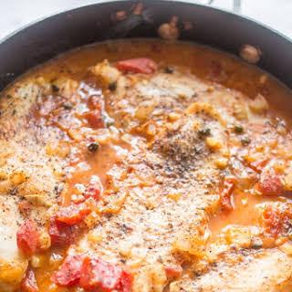 5 Ingredient Tuscan Baked Fish.