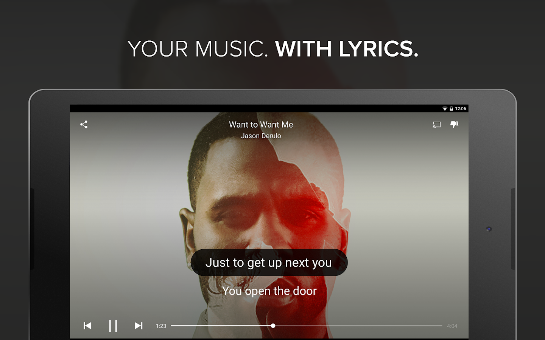Musixmatch music & lyrics - screenshot