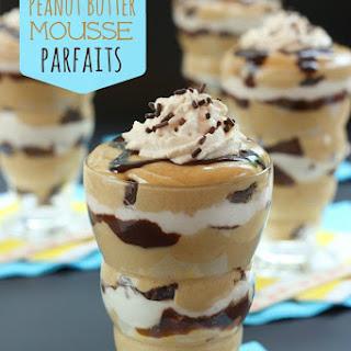 Brownie Peanut Butter Mousse Parfaits.