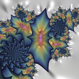 Spiral, Flower by Cassy 67 - Illustration Abstract & Patterns ( abstract, swirl, wallpaper, digital art, white background, spiral, flowers, fractal, digital, fractals, flower )