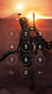 star lock screen for wars - náhled