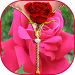 Rose Zipper Screen Lock Icon