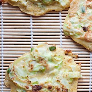 Okonomiyaki With Garlic Scapes.